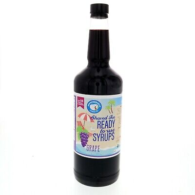 Hawaiian Shaved Ice Or Snow Cone Syrup Ready To Use Grape 32 Fl. Oz
