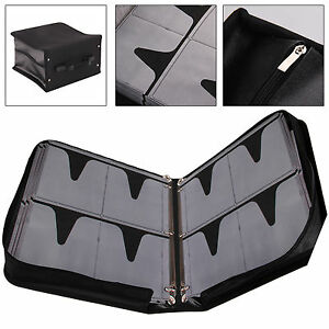 500 Sleeve CD DVD Blu Ray Disc Carry Case Holder Bag Wallet Protector Storage