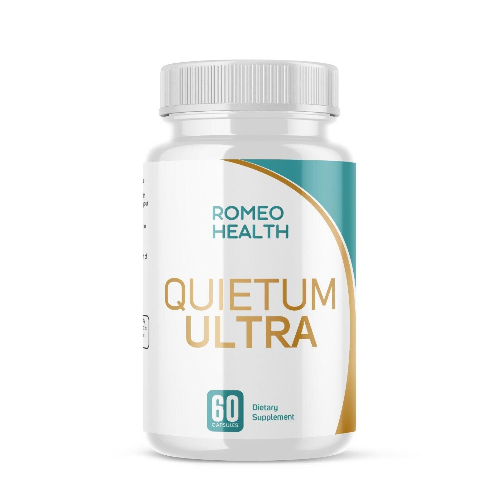Quietum Ultra Complete Tinnitus Relief Supplement, 60 Capsules, ROMEO HEALTH 1