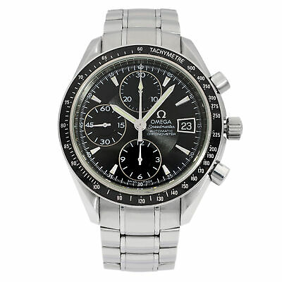 Omega Speedmaster Steel Black Dial Chronograph Automatic Mens Watch 3210.50.00