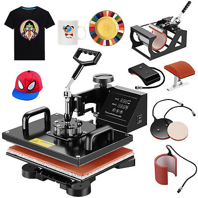 5 in 1 Digital Waken Press Machine Sublimation Transfer Print T-shirt Mug Hat