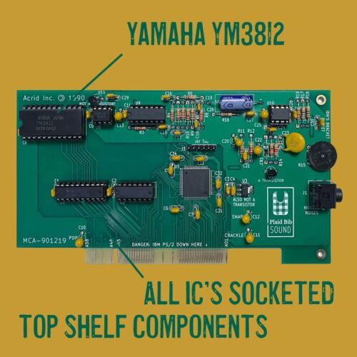 Plaid Bib - AdLib compatible Sound Card for IBM PS/2 MCA