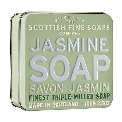 Scottish Fine Soaps Luxury Soap Jasmine Soap In A Tin 100G 3 5Oz