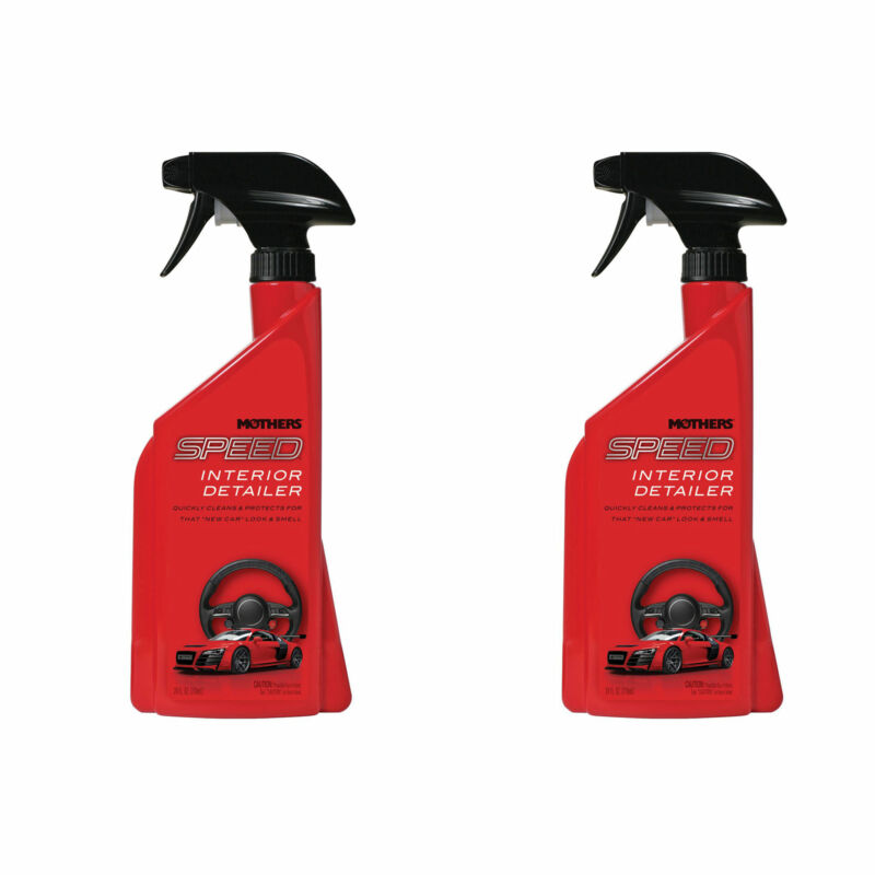 Mothers Polish Speed Interior 24 Ounce Bottle of Car Interior Detailer (2 Pack)