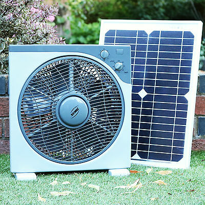 Solar Powered 12V DC Fan for Camping, Caravan, Car, Boat with 20W Panel