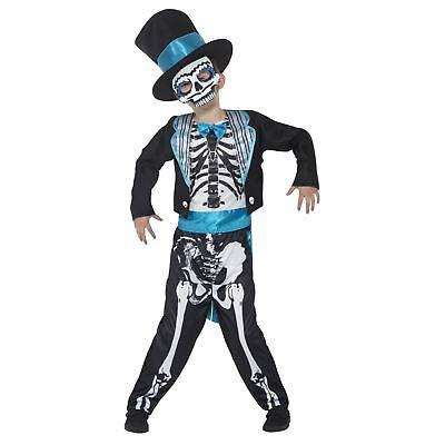 Jungen Tag der Toten Bräutigam Kostüm Halloween Zuckerschädel Verkleidung Outfit