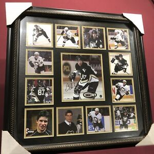 Signed Sidney Crosby rookie frame