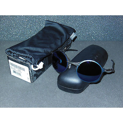69275b3419d 2ND Oakley Tailend Sunglasses Pewter Ice Iridium Round Retro Wires Tail End  Blue