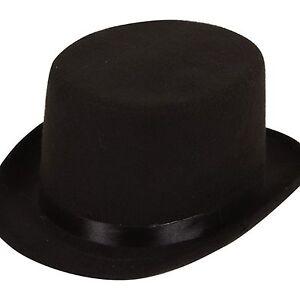 Adult-Mens-Black-Ringmaster-Victorian-Gentlemans-Fancy-Dress-Top-Hat-AC9147