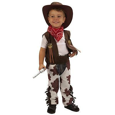 Cowboy Toddler Costume Boys Fancy Dress Halloween Party Western 2-3 Years