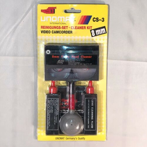Video Head Cleaner 8 Mm VHS Tape Camcorder Dust Brush Fluid Clean Germany - A68