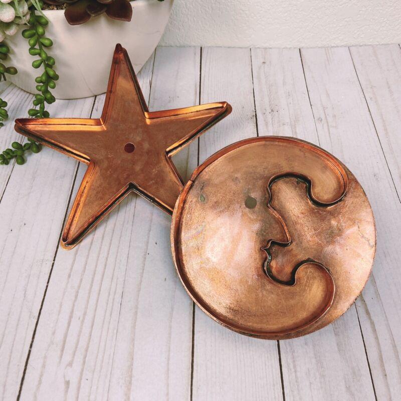 Martha Stewart Living Copper Cookie Cutters Star Light & Man in the Moon