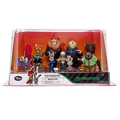 DISNEY ZOOMANIA 10 Figuren Play SPIEL Set Judy Hops Mr Big Elefinnick Nick Flash