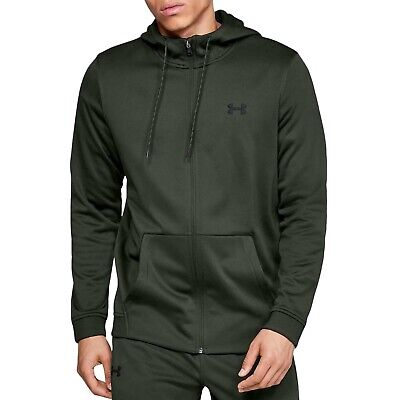 Under Armour UA Mens Armour Fleece Full Zip Hoody Hoodie Jumper  - Green
