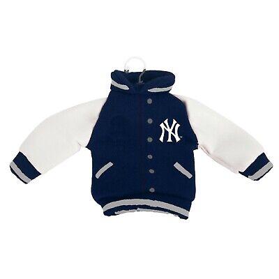 New York Yankees Christmas Tree Holiday Ornament New - Fabric Varsity Jacket