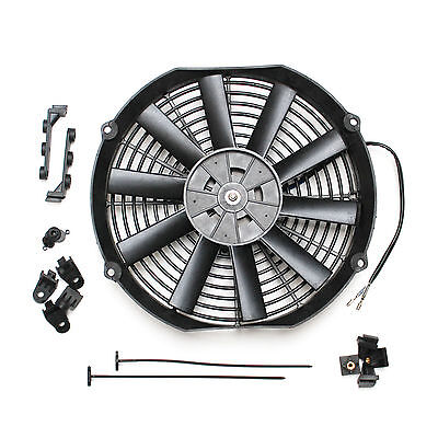 """ACP 16/"""" Universal Pull Radiator Cooling Fan Straight Blades Replacement Unit"""