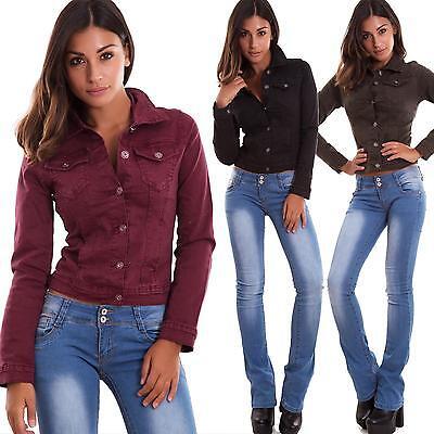 Damenjacke Jacke Jacke Bunt Buttons Kragen Neu W7150 Button Damen Jacken