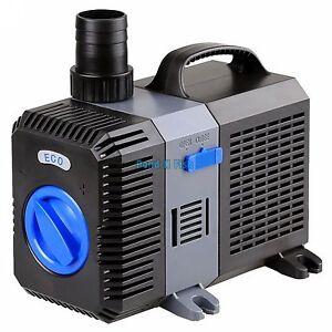 1200 GPH Pond Pump Adjustable Submersible Inline Fountain Waterfall Koi Filter