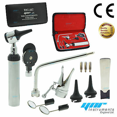 Ynr Otoscope Ophthalmoscope Opthalmoscope Nasal Larynx Ent Diagnostic Set Ce New