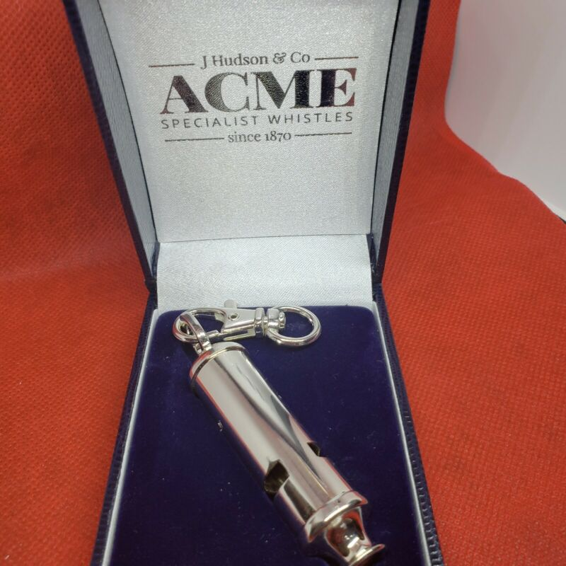 Acme Factory Silver Plated  Metropolitan Police Emergency Whistle With Swivel