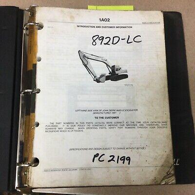 John Deere Jd 892d-lc Excavator Parts Manual Catalog Book List Guide Pn Pc2199