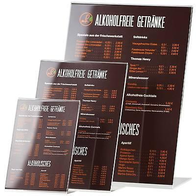 L-Ständer hochformatig Acrylaufsteller Werbeaufsteller A7 A6 A5 A4 A3