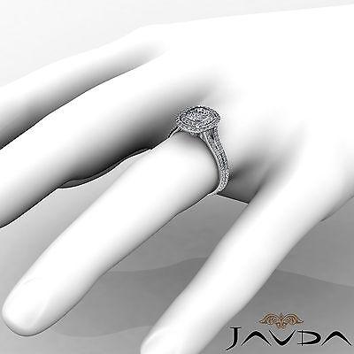 Cushion Diamond Engagement Antique Halo Ring GIA F SI1 14k White Gold 2.55 ct 3