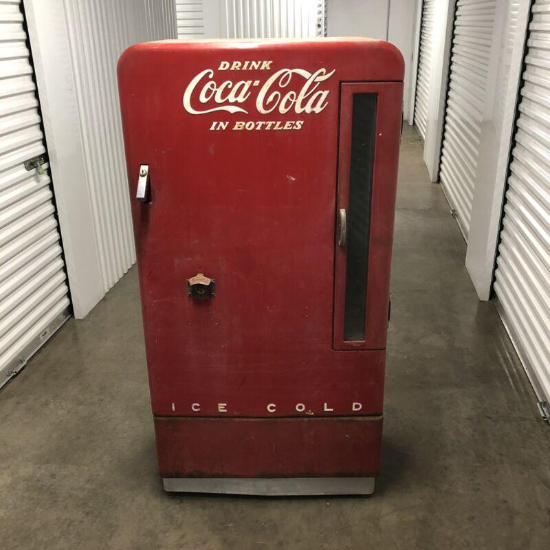 Vintage ORIGINAL Coca Cola Vendo 110 Self Serve Vending Machine Coke Pepsi Crush
