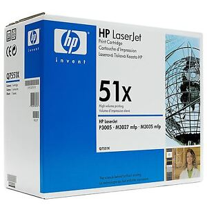 HP Q7551X 51X Toner Cartridge  P3005 Genuine NEW