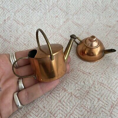 Antique Miniature Copper High Quality Teapot and Watering Can