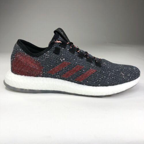originals pure boost black scarlet running shoes
