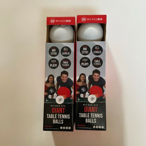 Wicked Big Sports Giant Table Tennis Ping Pong Lot 2 Packages 8 Total Balls New