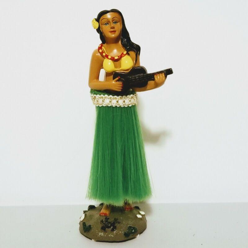 "Hula Girl Hawaiian Ukelele Dancer Dashboard Bobble-Head 6.5"" Figurine"