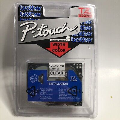 Genuine Brother P-touch Tz-131 12 12mm Black Print On Clear Tape New Sealed