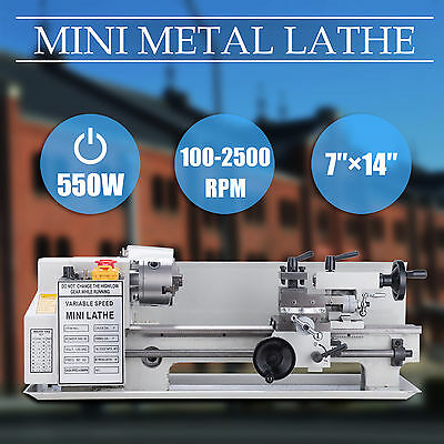 Mini Metal Lathe Bed 550w W Heat-treated Lathe Bed Variable Speed 0-2500 Rpm