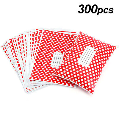 300 Plastic Mailing Postal Bag Self Seal Packing Packaging Postage 14x19 Red