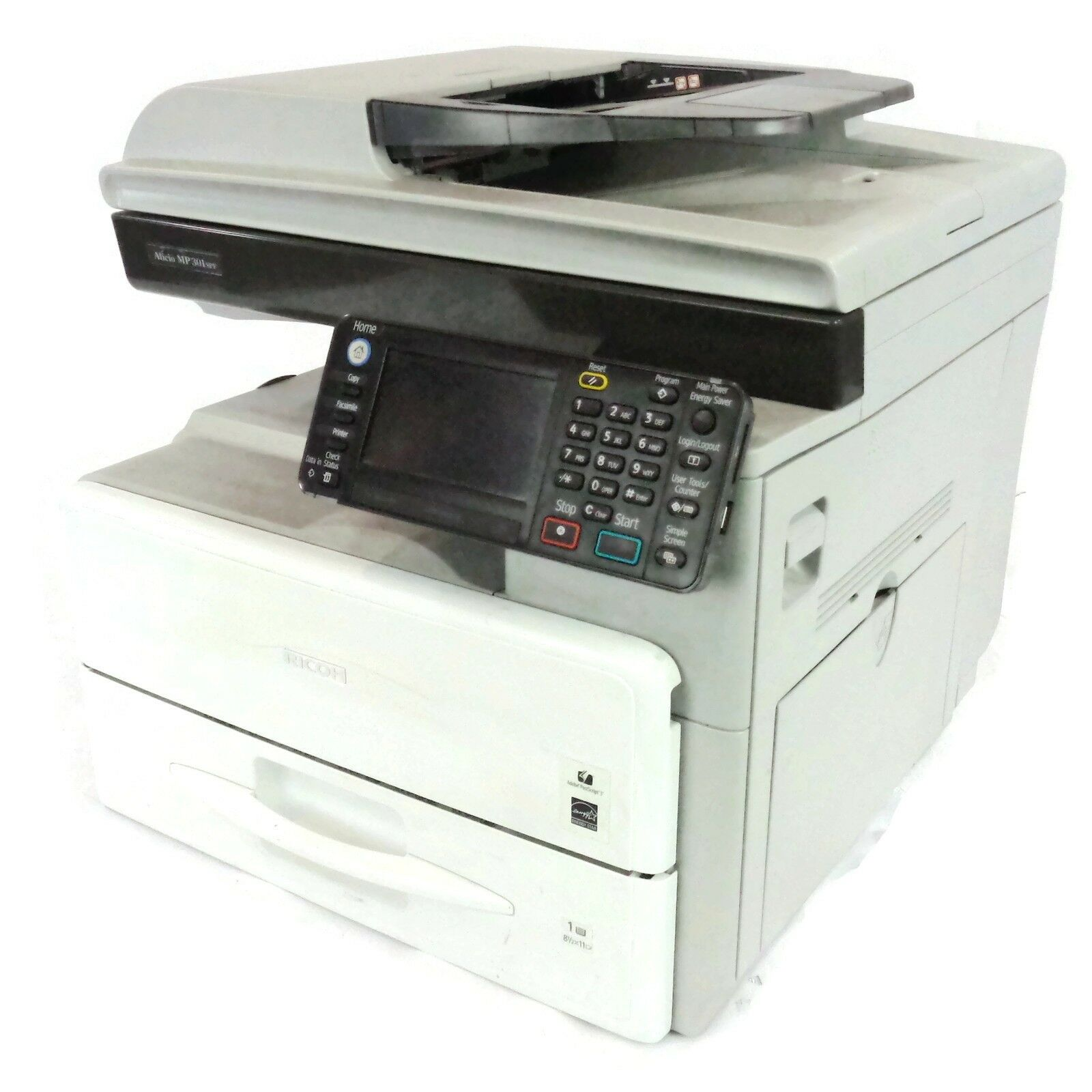 Details about Lot of 2 Ricoh Aficio MP 301SPF Multifunction Touchscreen  Laser Printer