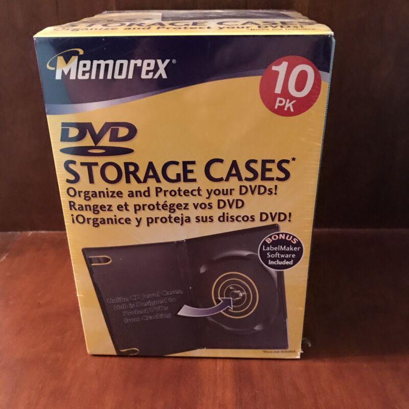 Memorex DVD Storage Cases 10pk Brand New Sealed