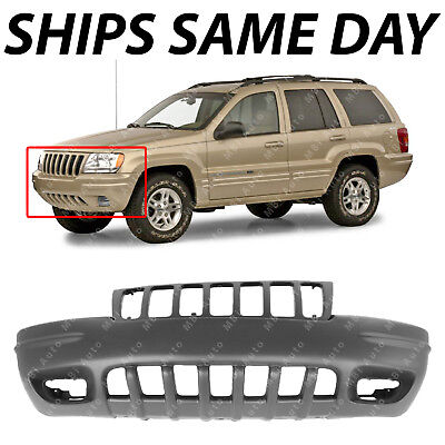 New Primered - Front Bumper Cover For 1999 2000 Jeep Grand Cherokee SUV Limited 00 Jeep Cherokee Front Bumper