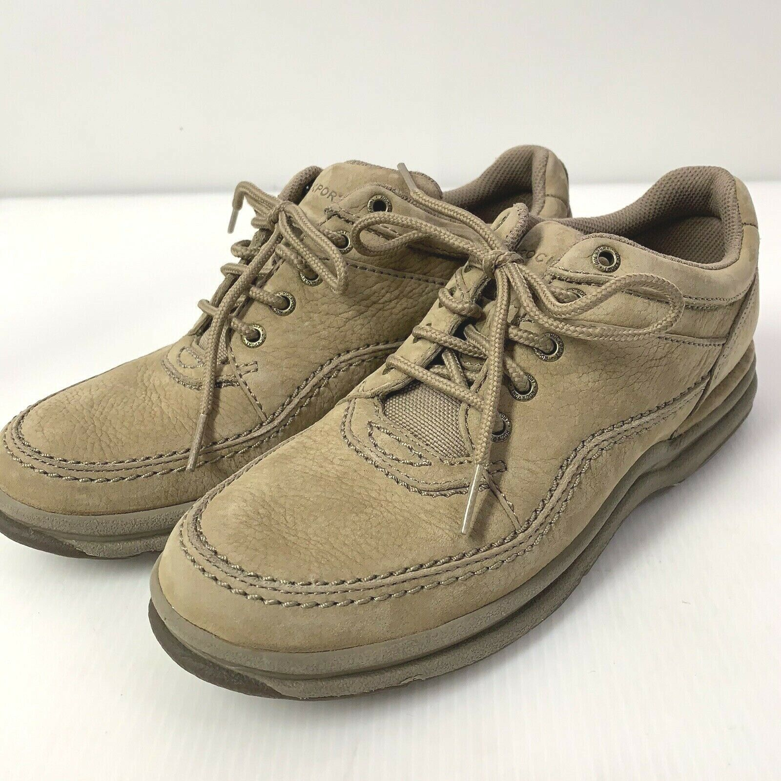 GENTLY USED Rockport Walking Shoe Tan Leather WWT13M Sz 8 - $24.99