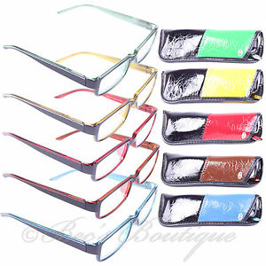 Reading-Glasses-2Tone-1-1-5-2-2-5-3-Mens-Ladies-Red-Blue-Yellow-Brown-Green