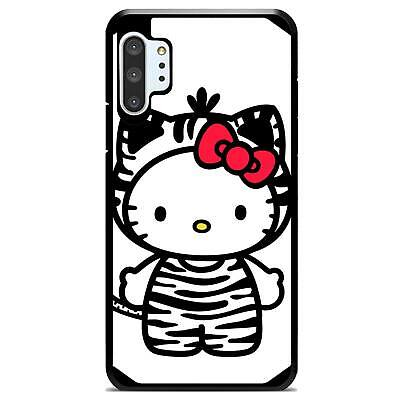For Galaxy Note 10 / 10+ (Plus) Hybrid Case Cover Hello Kitty Zebra