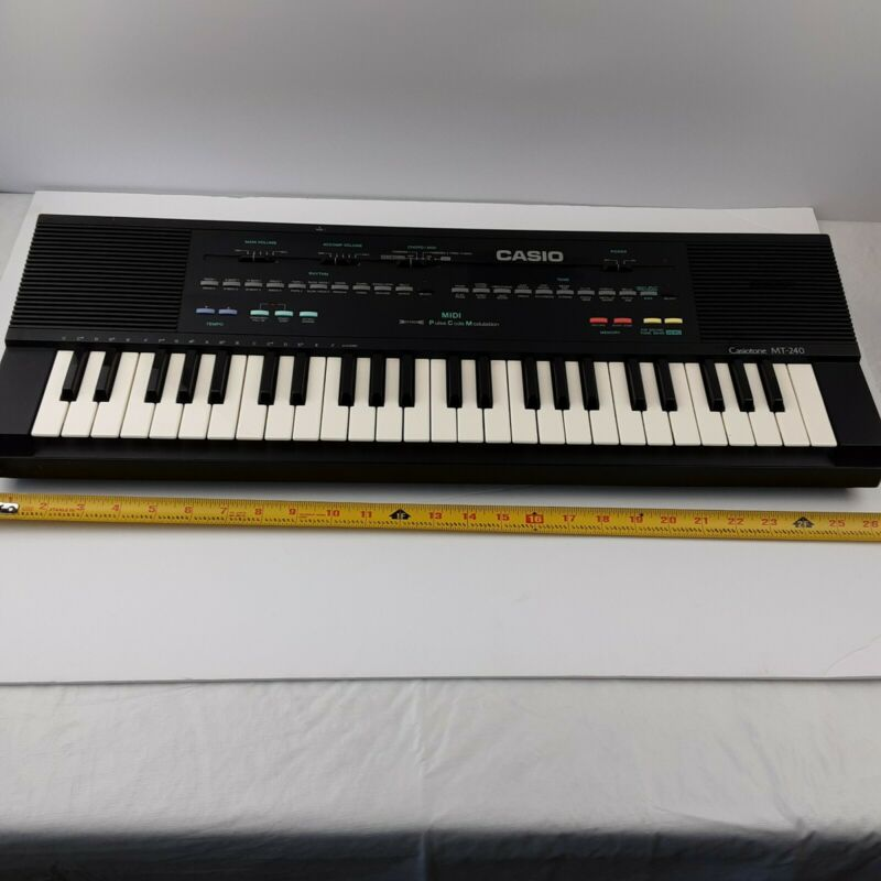 Casio Casiotone MT-240 Electronic Keyboard 210 Sound Tone Bank
