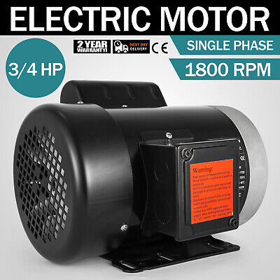 Electric Motor 34 Hp 1 Phase 1800 Rpm 58 Inch Shaft 115230v Equipment Tefc
