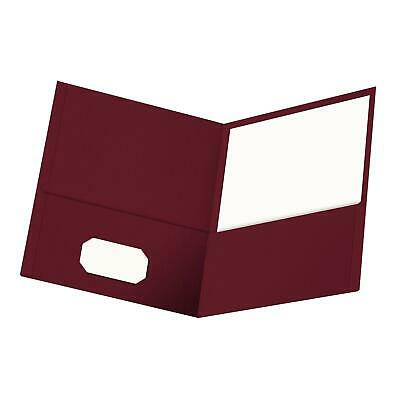 Oxford Twin-pocket Folders Textured Paper Letter Size Burgundy Holds 100 ...