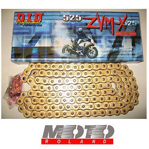 CATENA-da-MOTO-DID-passo-525-ZVMX-RING-ORO-124-maglie-G-amp-G-X-RING-PROMOZIONE
