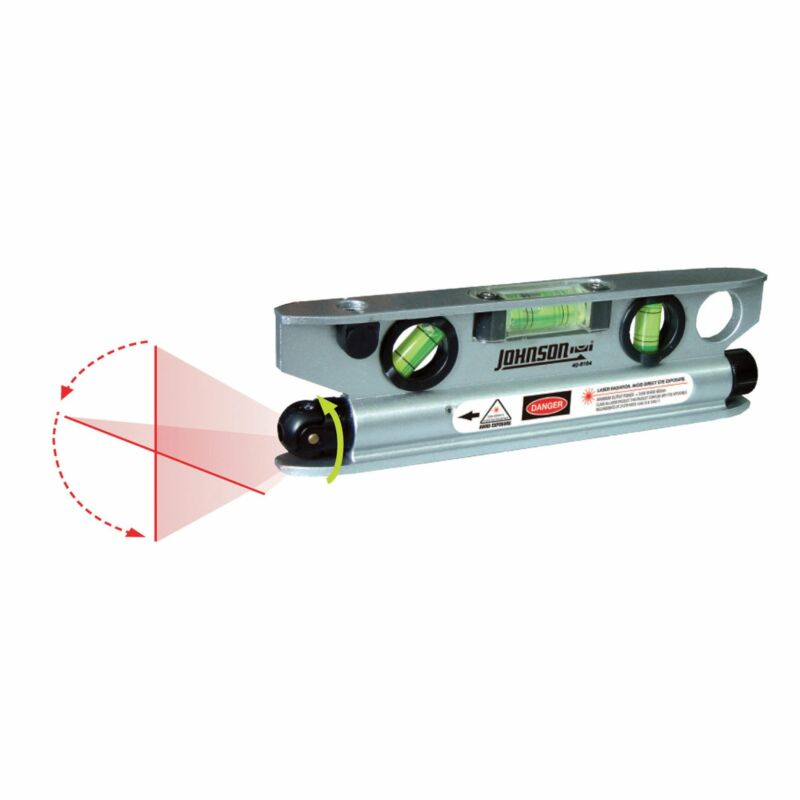 Johnson Level & Tool Magnetic Torpedo Laser Level #40-6164