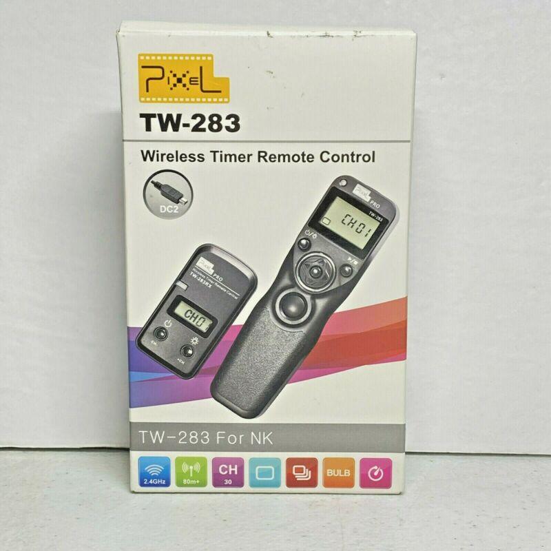 Pixel TW-283 Wireless Timer Remote  Control For NK Nikon Black