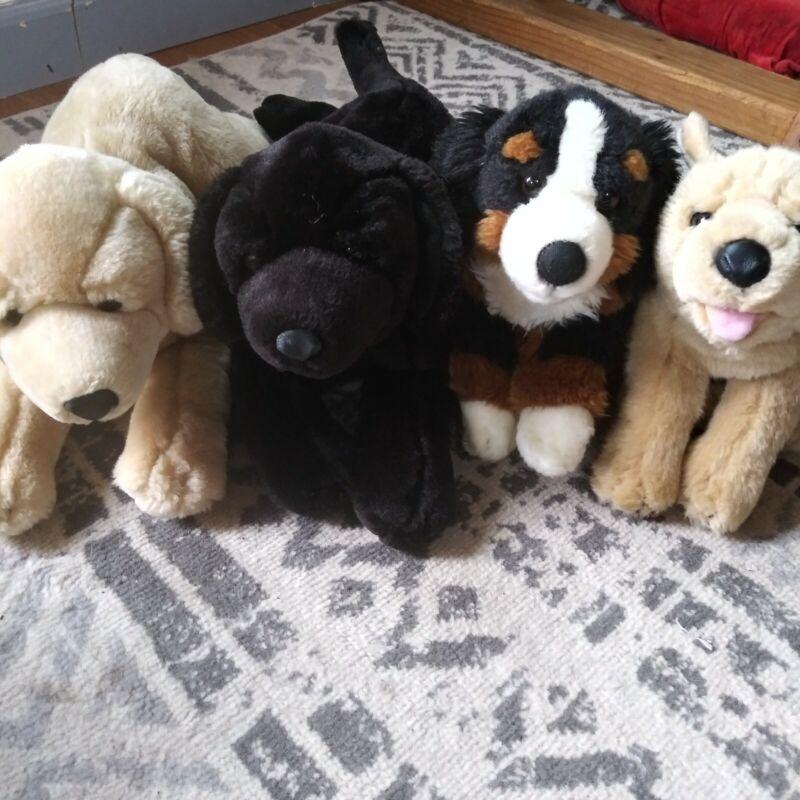 Animal Alley Stuffed Dogs - Lab, Golden, Bernese Mountain Dog, German Shepherd