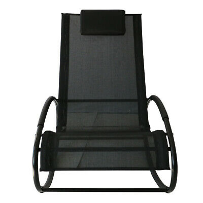 Schaukelstuhl Schwungliege Gartenliege Schaukelliege Liegestuhl Stahl bis 120kg